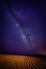 Sahara Desert and milky way, Morocco