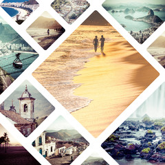 Collage of Brazil images - travel background