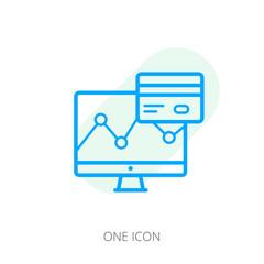Credit history vector icon