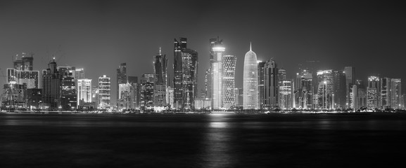 Doha skyline panorama