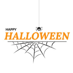 happy halloween white poster with text eps 10 vector