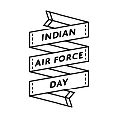 Indian Air Force Day emblem isolated vector illustration on white background. 8 october patriotic state holiday event label, greeting card decoration graphic element