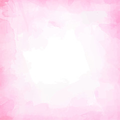 Beautiful watercolor background, frame vector