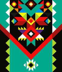 Fototapeta aztec pattern colorful  obraz