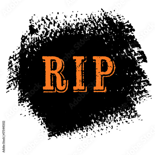 rip halloween sign text over brush paint abstract background vector