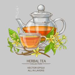 vanilla tea illustration