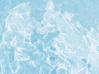 Texture of ice, toned. Christmas and New Year background. Winter background.
