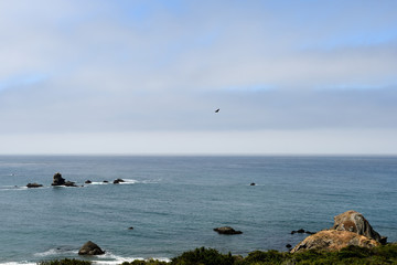 Beautiful seascape along the Pacific coast, California, USA