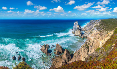 Atlantic ocean coast in Portugal