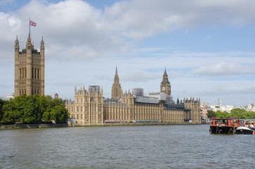 Houses of Parliament with River Thames