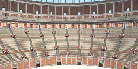 Innenansicht des Kolosseums im antiken Rom