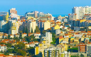 Autocollant pour porte Delhi Lisbon real estate, Portugal