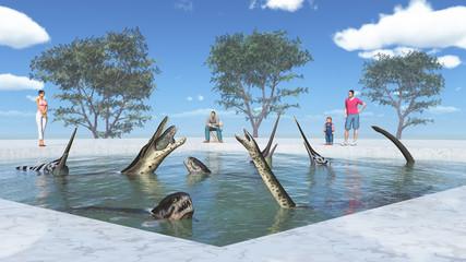 Freizeitpark mit prähistorischen Meeresreptilien