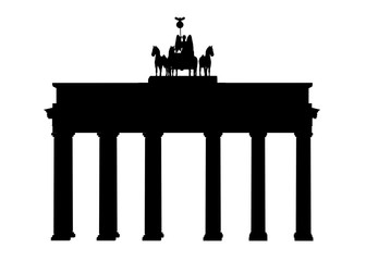 Silhouette des Brandenburger Tors in Berlin