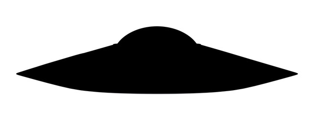 Silhouette einer fliegenden Untertasse