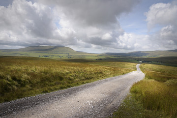 Road in the English clouded mountain Landscape