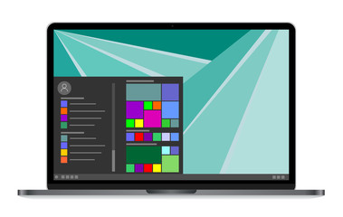 modern laptop with icon on screen vector eps 10