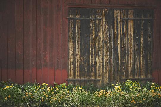 Doors closed in a farmhouse