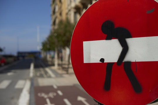Graffiti en señal