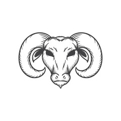 goat head vector illustration
