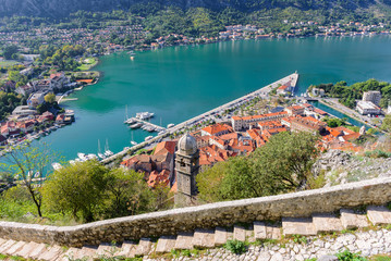 Old Town of Kotor from the Castle, Montenegro