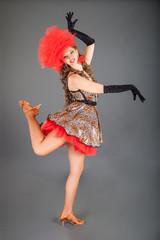 Beautiful Dancer Poses in Photo Studio