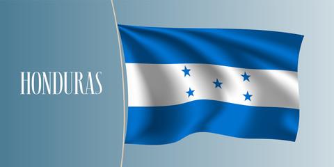 Honduras waving flag vector illustration