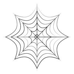 Spider Web Icon Symbol Design. Vector illustration of cobweb isolated on white background. Halloween graphic.