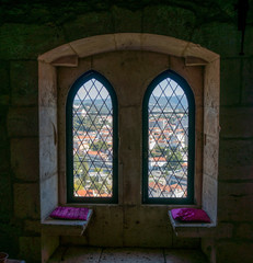 View from inside Leiria's famous Castle.