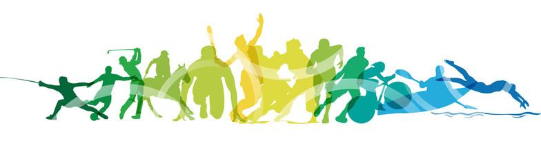 Olimpiadi, sport, gare, competizioni Wall mural