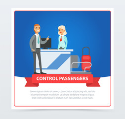 Control passengers at the airport
