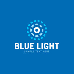 Blue Light Circle Vector Logo Template