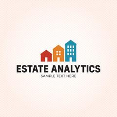 Estate Analytics Logo Design Template