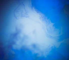 blue smoke on background