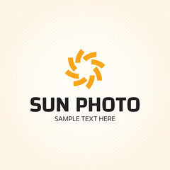 Sun Photo Logo Design Template
