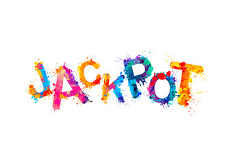 Jackpot! Vector splash paint inscription