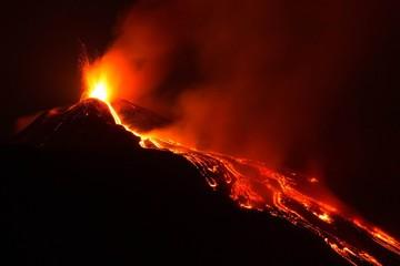 Eruzione panoramica Vulcano Etna Fototapete
