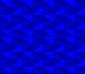 Royal blue background, repeating seamless vector pattern in vibrant shades. Strong energy, for positive thinking, calm and optimism.
