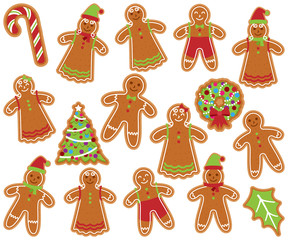 Cute Vector Collection and Gingerbread Men, Women and Christmas Items