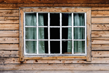 Window on a wooden building