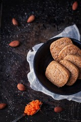 Wholemeal carrot cookies