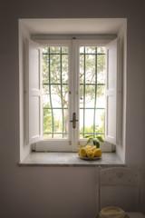 Mediterranean window with lemons