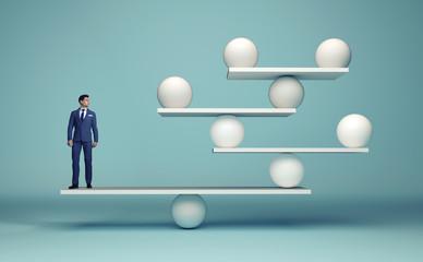 Leadership balancing the team Fototapete