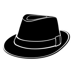 Hipster hat silhouette