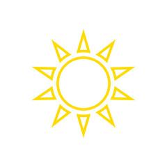 Icon line sun, vector.