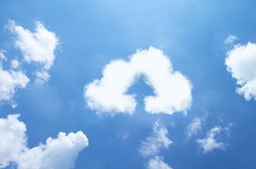 Cloud upload sign ,cloud shape.