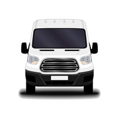 realistic cargo van. front view.