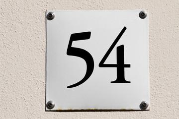 Hausnummer 54