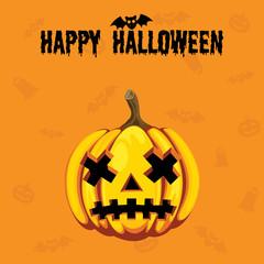 Happy Halloween. Orange. Horror.
