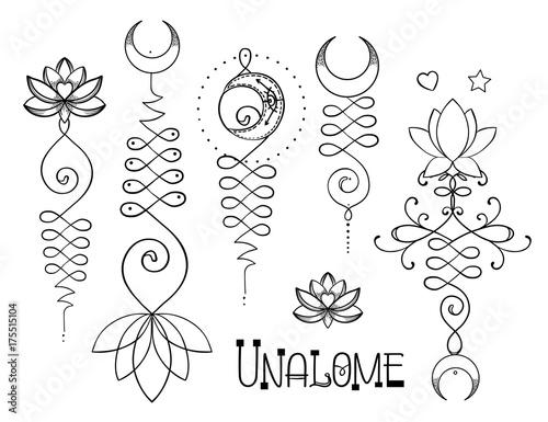 Lotus and sacred geometry unamole hindu symbol of wisdom and path lotus and sacred geometry unamole hindu symbol of wisdom and path to perfection set mightylinksfo